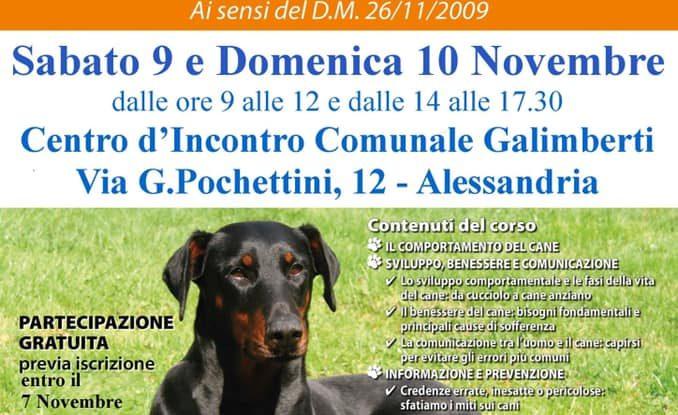 'Il Patentino' Corso di formazione gratuito per i proprietari di cani e per tutti i cittadini interessati